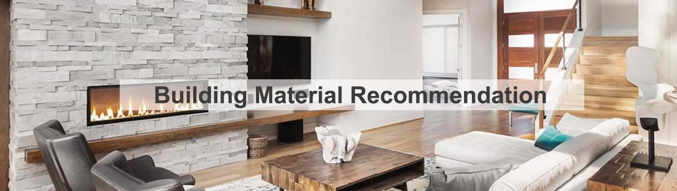 construction material recommendation