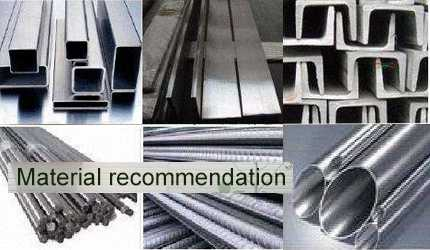 building construction material recommendation