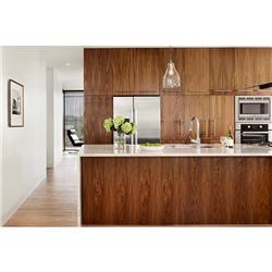 Commercial High Quality Timber Veneer Finish Kitchen Cabinets