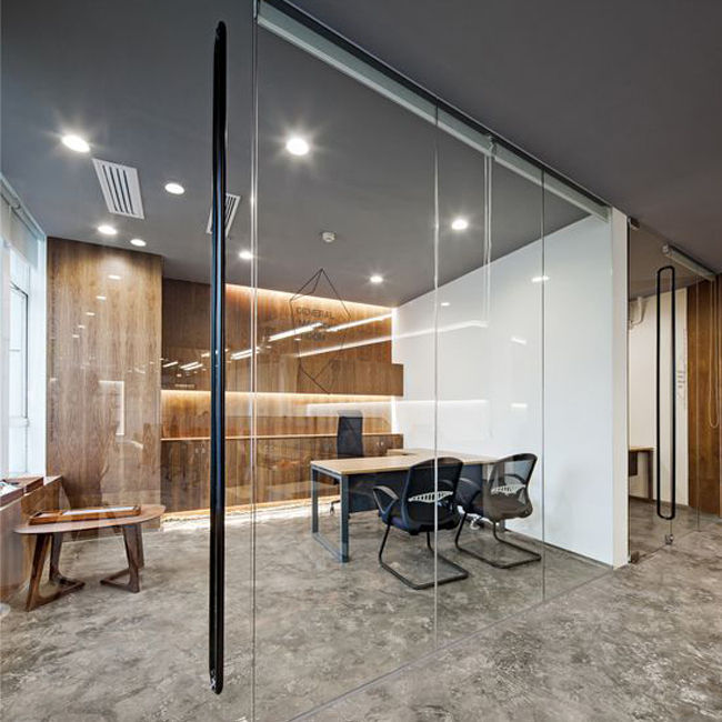 Indoor glass Office partition design-058413589