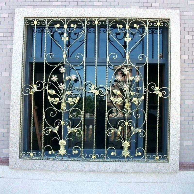 Wrought iron window modern windows from Prima construction-BK064