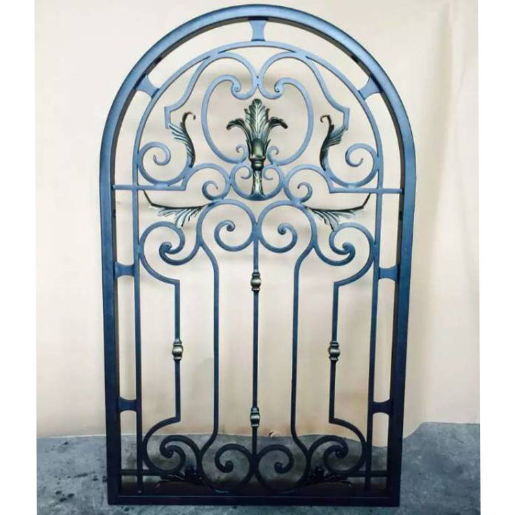 Wrought Iron Frame Steel Frame Fixed Windows-BK069